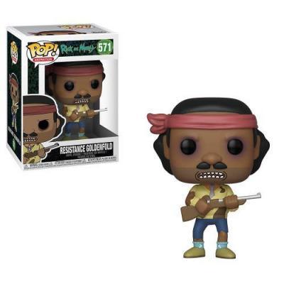Rick morty bobble head pop n 571 mr goldenfold freedom fighter