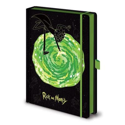 Rick morty notebook a5 premium portals