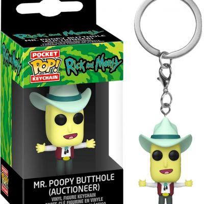 Rick morty pocket pop keychains mr poopybutthole 4cm