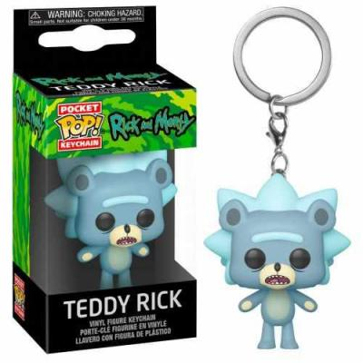 Rick morty pocket pop keychains teddy rick 4cm