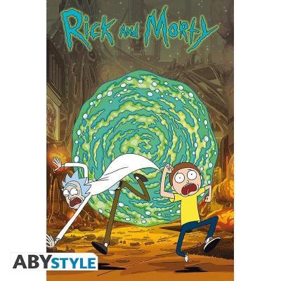 Rick morty portail poster 91x61cm