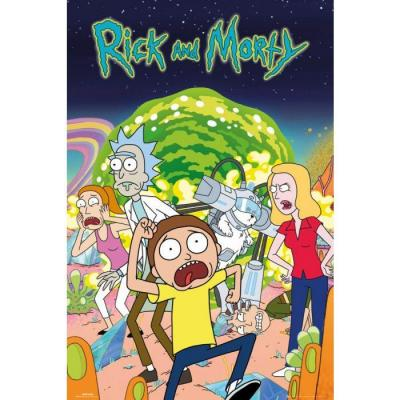 Rick morty poster 61x91 groupe