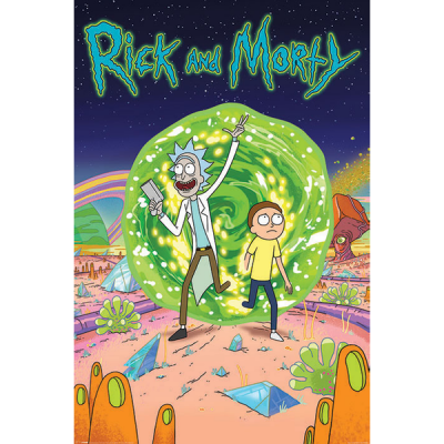 Rick morty poster 61x91 portal