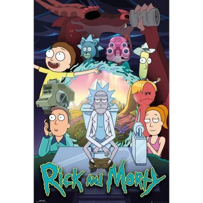 Rick morty season 4 poster 61x91 5cm