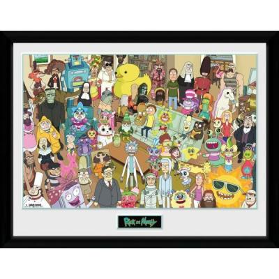Rick morty total rickall collector print 30x40cm