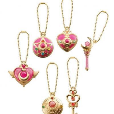Sailor moon set de 6 pendentifs en metal porte cles bandai