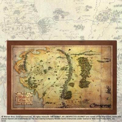 Seigneur des anneaux carte de la terre du milieu 36 5x23cm