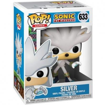 Sonic 30th bobble head pop n 633 silver the hedgehog