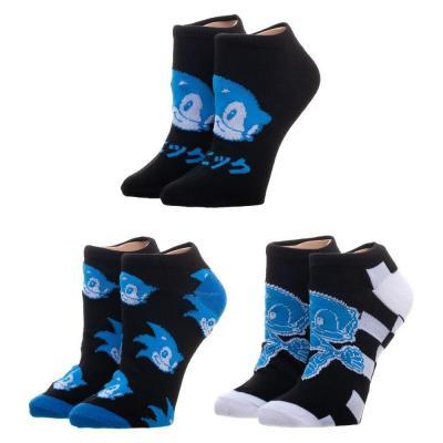 Sonic pack 3 paires de chaussettes taille unique adulte