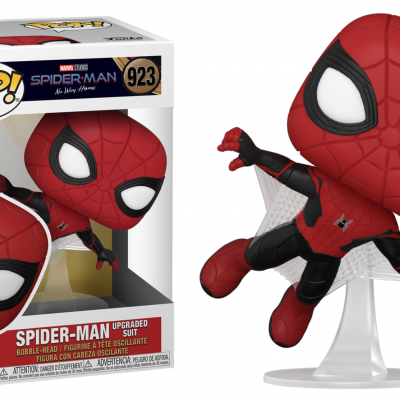 Spider man bobble head pop n 923 spider man upgraded suit