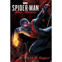 Spider man miles morales cybernetic swing poster 61x91cm