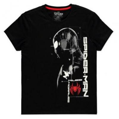 Spider man miles morales silhouette t shirt homme