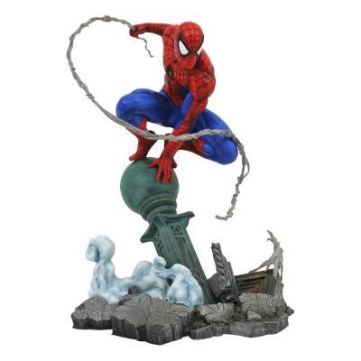 Spider man spider man lamppost statuette marvel comic gallery 25cm