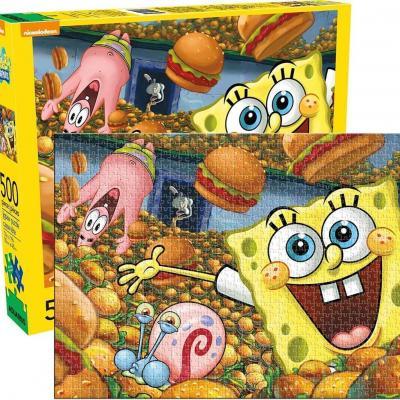 Spongebob krabby patties puzzle 500p 35x48cm