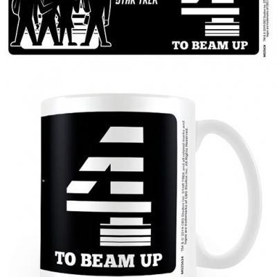 Star trek four to beam up mug 315ml