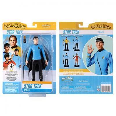Star trek spock figurine bendyfigs avec support