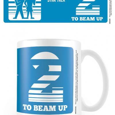 Star trek two to beam up mug 315ml