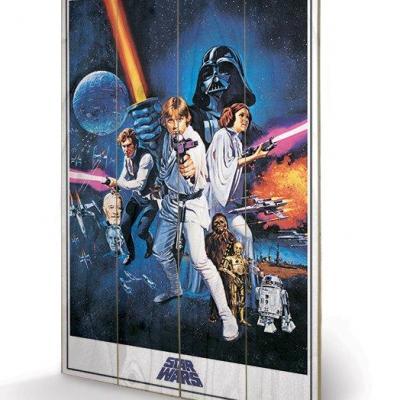 Star wars a new hope impression sur bois 40x59cm