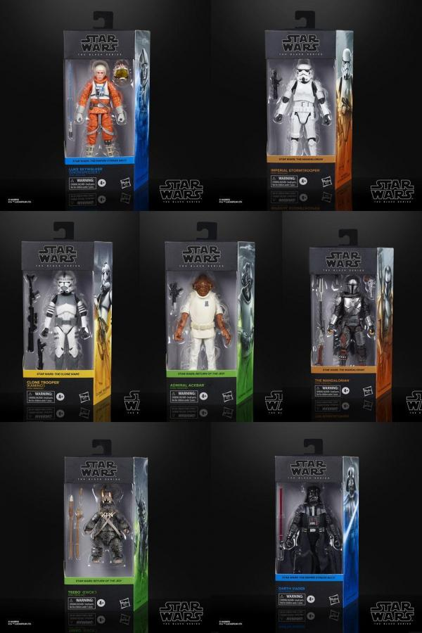 Star wars black series 2020 wave 3 assortiment de 8 figurines 15cm