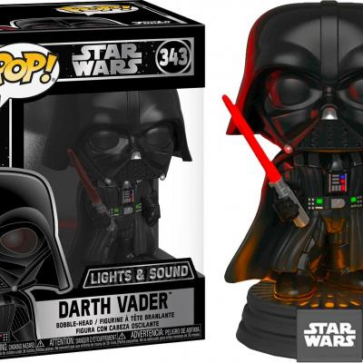 Star wars bobble head pop n 343 dark vador sonore et lumineuse