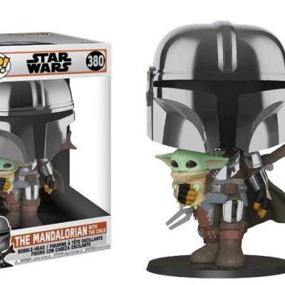 Star wars bobble head pop n 380 mandalorian w the child 25cm