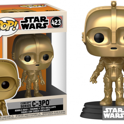 Star wars bobble head pop n 423 sw concept c 3po