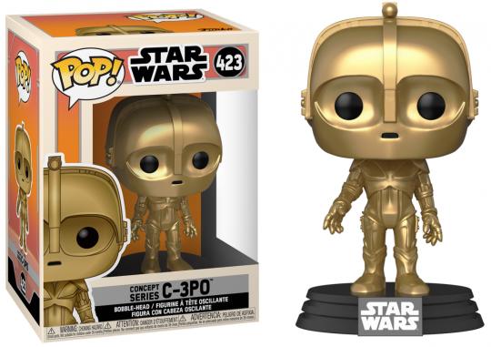 Star wars bobble head pop n 423 sw concept c 3po