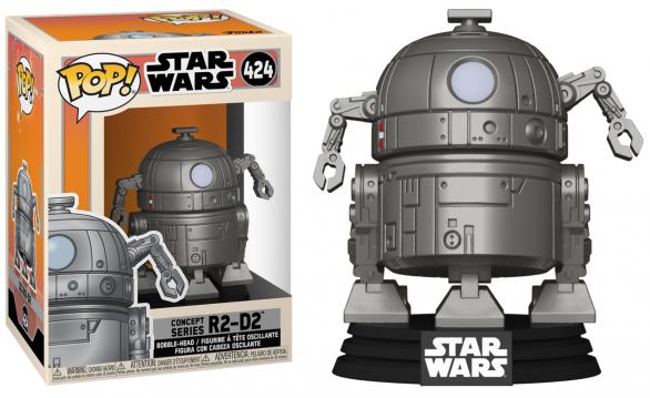 Star wars bobble head pop n 424 sw concept r2 d2