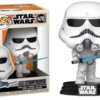 Star wars bobble head pop n 470 stormtrooper concept series