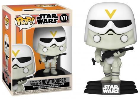 Star wars bobble head pop n 471 snowtrooper concept series