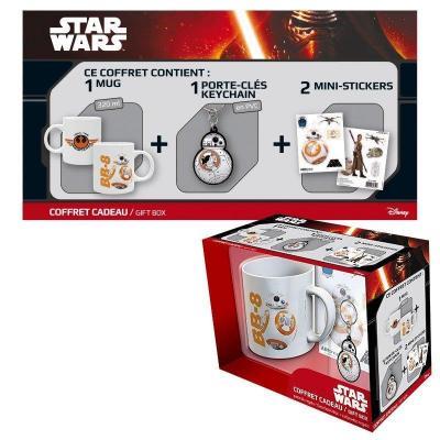 Star wars coffret cadeau bb8 mug porte cles sticker