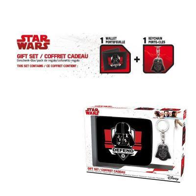 Star wars coffret cadeau wallet keyring dark vador
