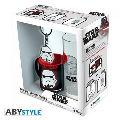 Star wars coffret verre porte cles mini mug trooper
