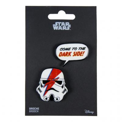Star wars come to the dark side broches