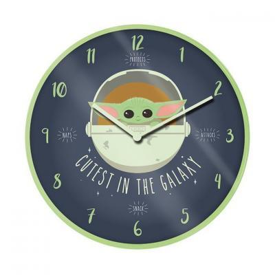 Star wars cutest in the galaxy horloge en plastique diametre 25cm