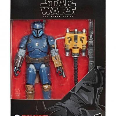 Star wars heavy infantry mandalorian figurine black series deluxe