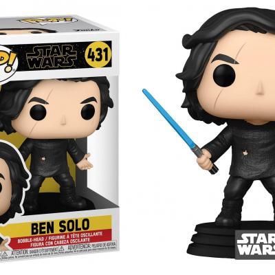 Star wars ix bobble head pop n 431 ben solo w blue saber