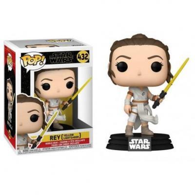 Star wars ix bobble head pop n 432 rey w yellow saber