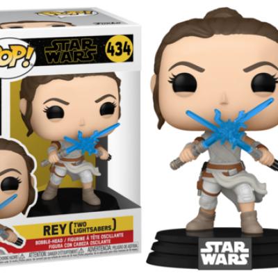 Star wars ix bobble head pop n 434 rey w2 light sabers