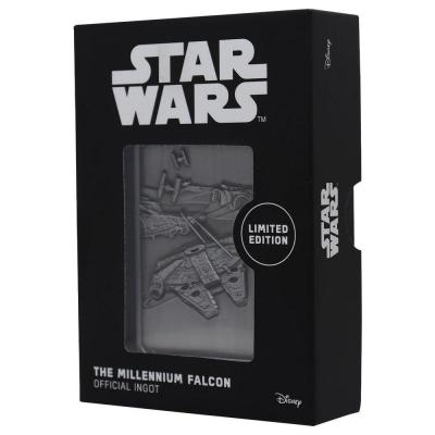 Star wars millenium falcon lingot en metal collector