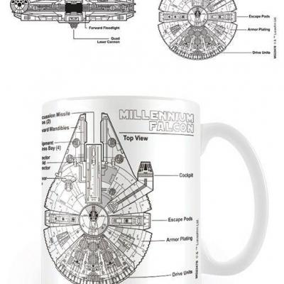 Star wars mug 300 ml millennium falcon sketch