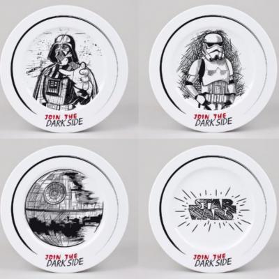 Star wars pack de 4 assiettes 21cm join the dark side