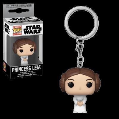 Star wars pocket pop keychains leia 4cm