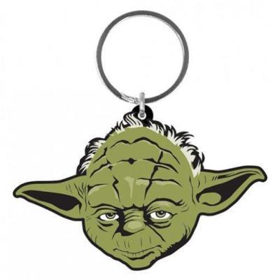 Star wars porte cles caoutchouc yoda 6 cm