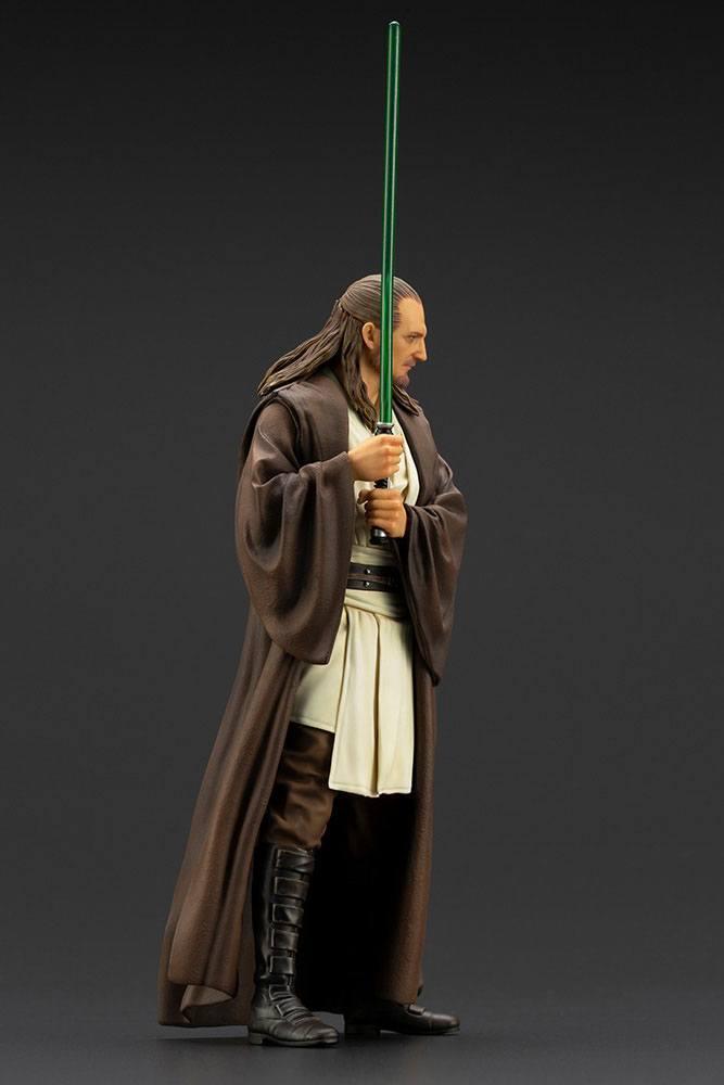 Star wars qui gon jinn statuette pvc artfx 19cm 2
