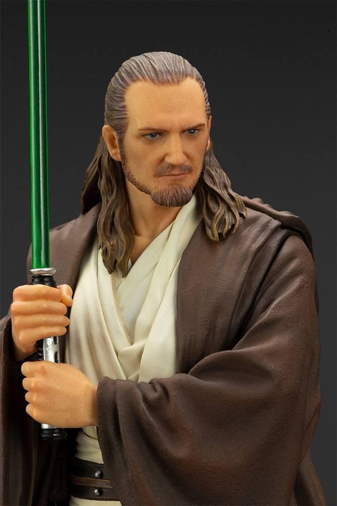 Star wars qui gon jinn statuette pvc artfx 19cm 3