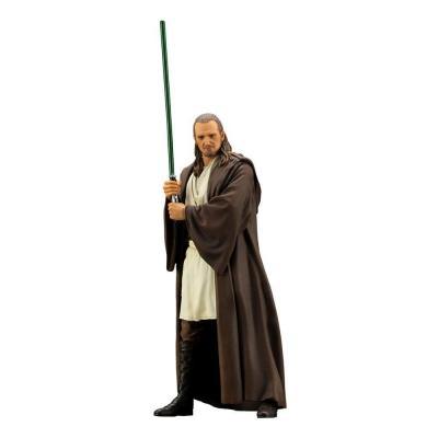 Star wars qui gon jinn statuette pvc artfx 19cm