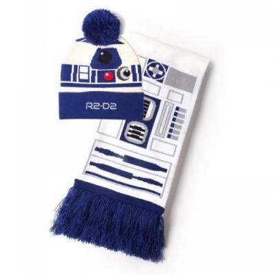 Star wars r2 d2 bonnet echarpe