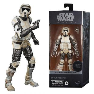 Star wars scout trooper figurine black series carbonized 15cm