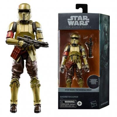Star wars shoretrooper figurine black series carbonized 15cm
